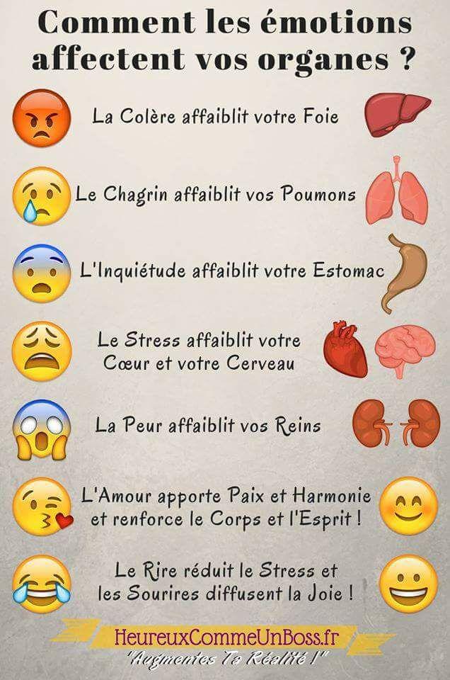 Comment les émotions affectent vos organes